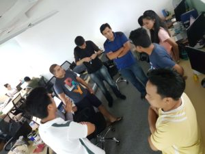 LegalMatch Philippines SEO Team having their daily stand-up meeting