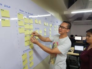 LegalMatch Philippines Team Venus scrum board