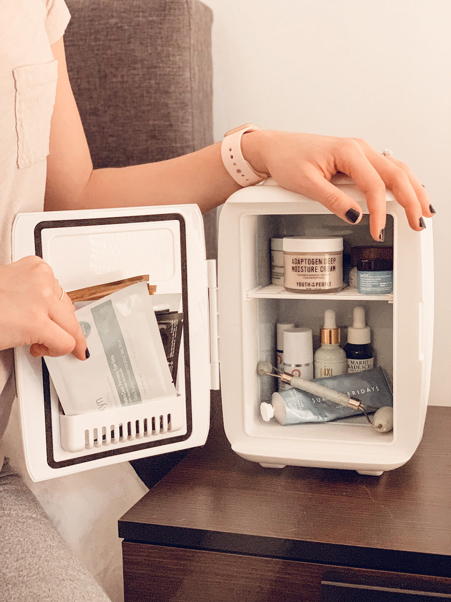 Things you need in your bathroom Skincare-Fridge-Inside