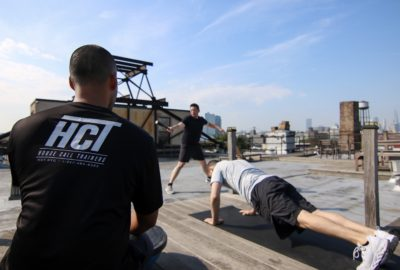 Rooftop Training iwt Avi and Duke