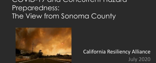 COVID-19 and Wildfires – Sonoma County