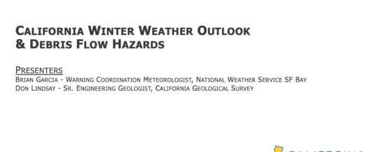 Winter Weather Outlook & Debris Flow Hazards Webinar
