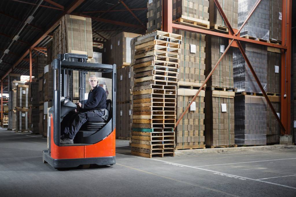 RFID Asset Tracking in a warehouse includes pallet and equipment tracking.
