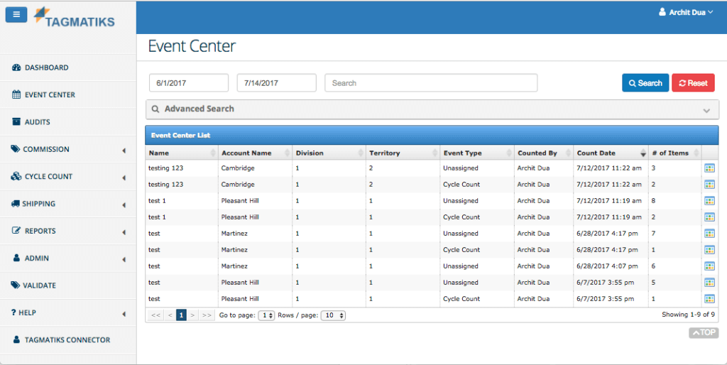 Field Inventory Management with Audits