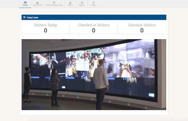 Dashboard of RFID4U's Event Management Solution