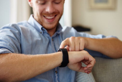 RFID in wearables is used for authentication and warranty service.