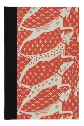Dogs in Red- Hand Sown Hardback Notebook