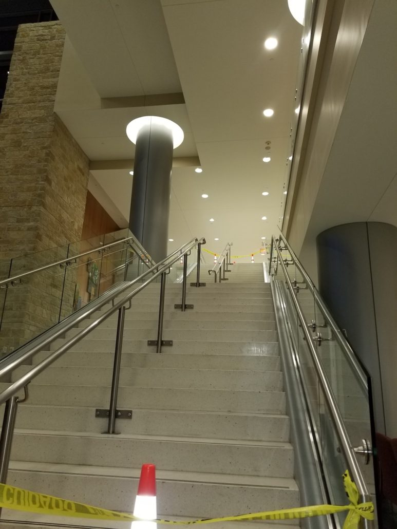 Grand Staircase at the Hospital Ft. Hood, TX (Stainless Steel Hand Rail)
