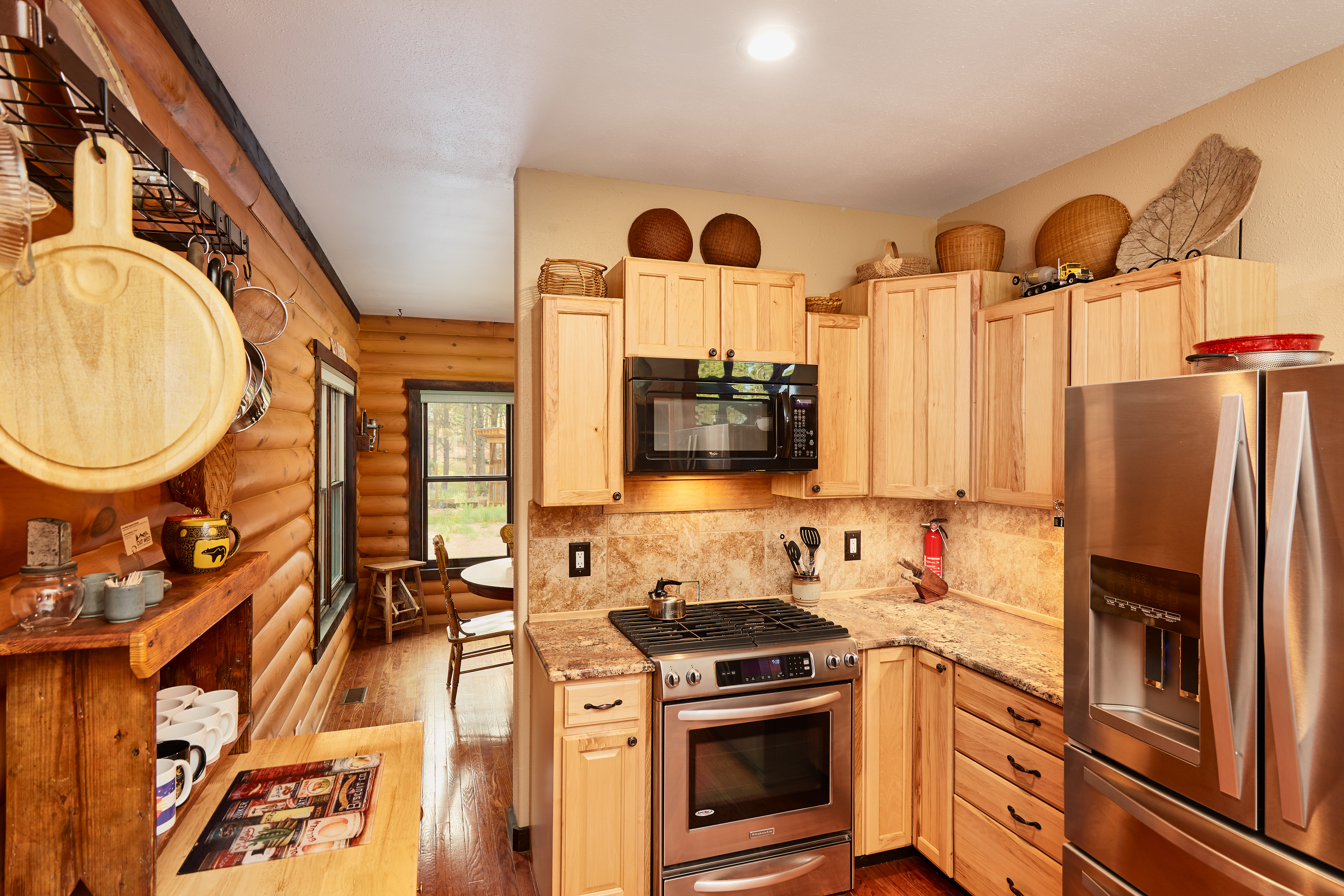 The kitchen is fully stocked with everything you need to create a wonderful meal.