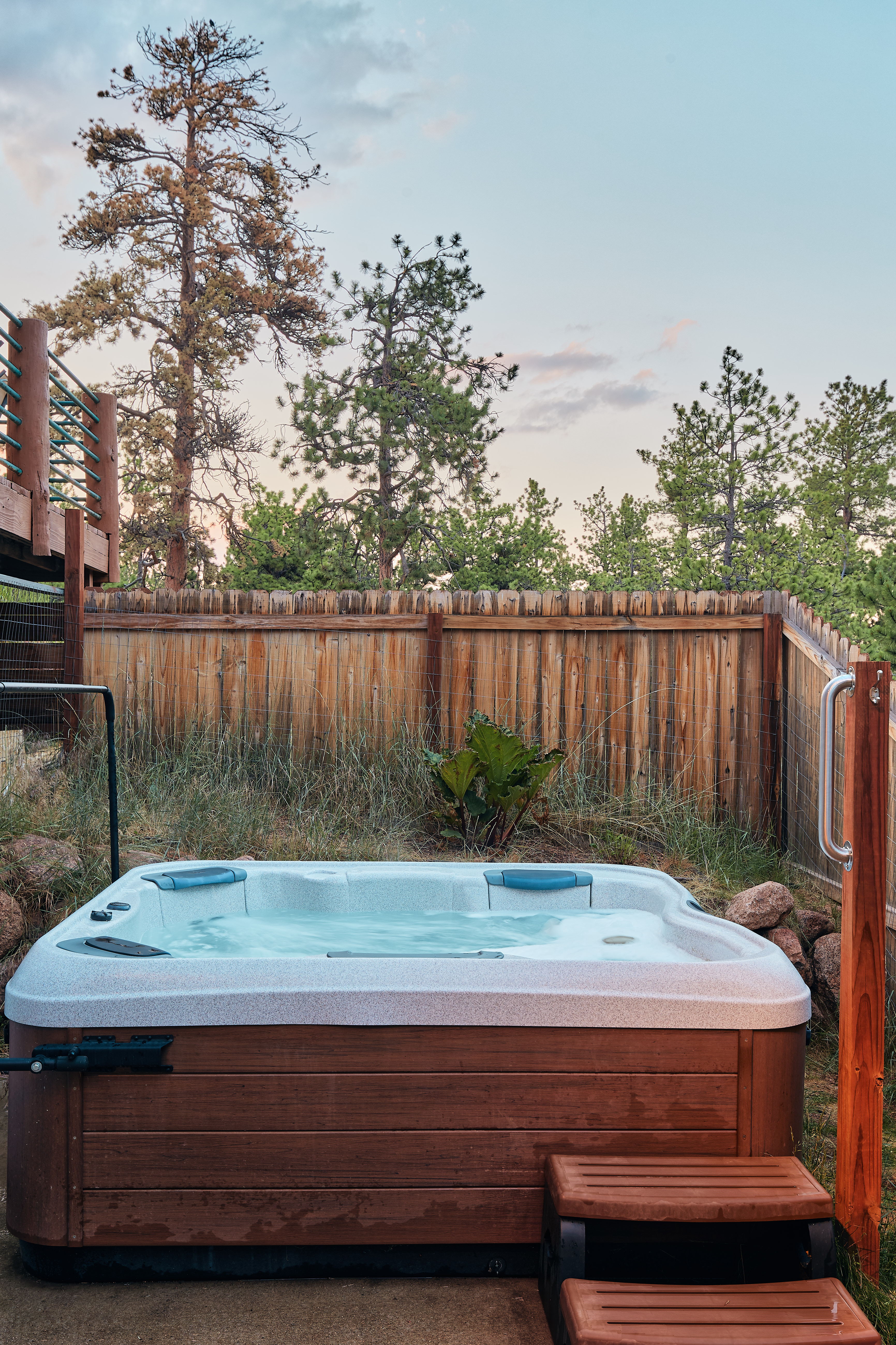 Take a dip in the hot tub after a day of exploring!