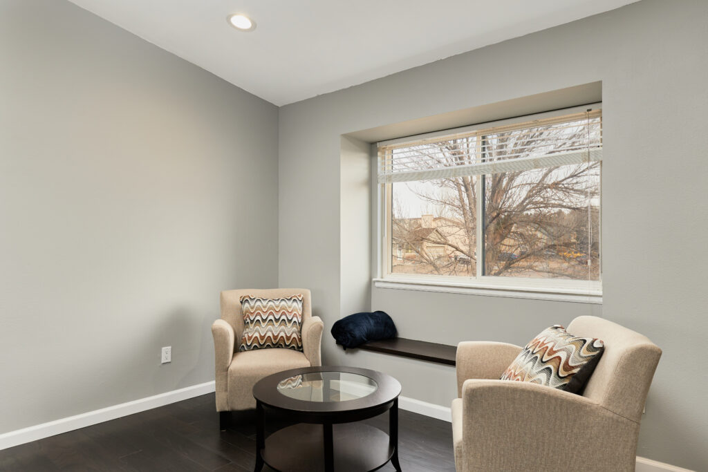 Natural light fills the home on each level.