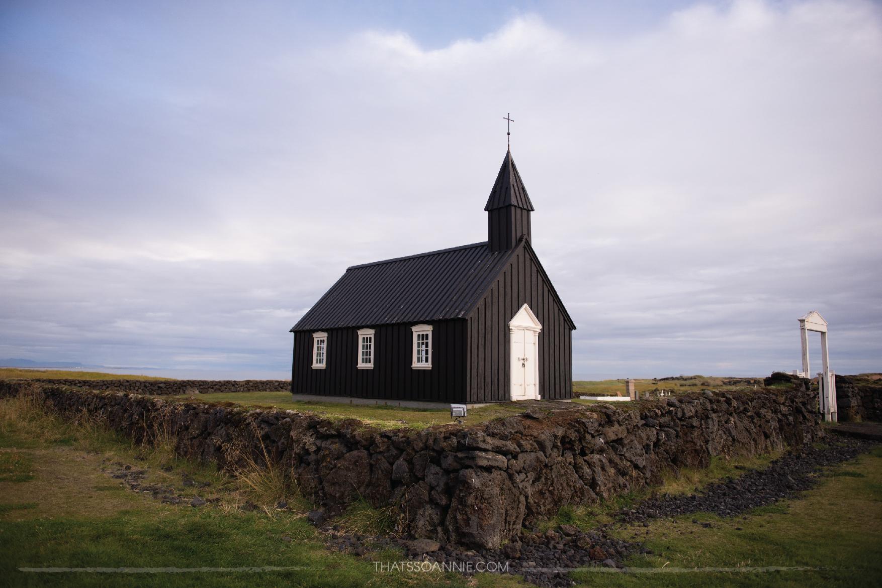 Búðirkirkja Búðakirkja, Churches of Iceland | Exploring the Snæfellsnes Peninsula, Iceland | www.thatssoannie.com