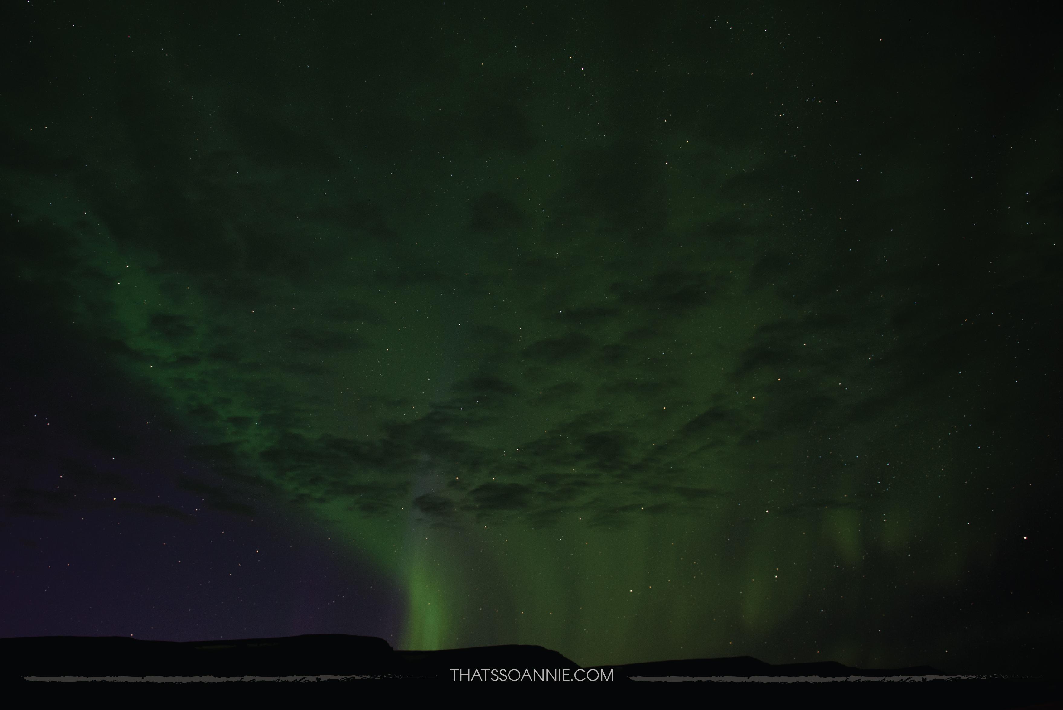 Aurora Borealis, the Northern Lights, at Hofsós