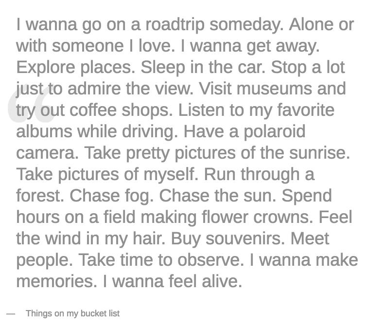 I wanna go on a roadtrip someday | www.thatssoannie.com
