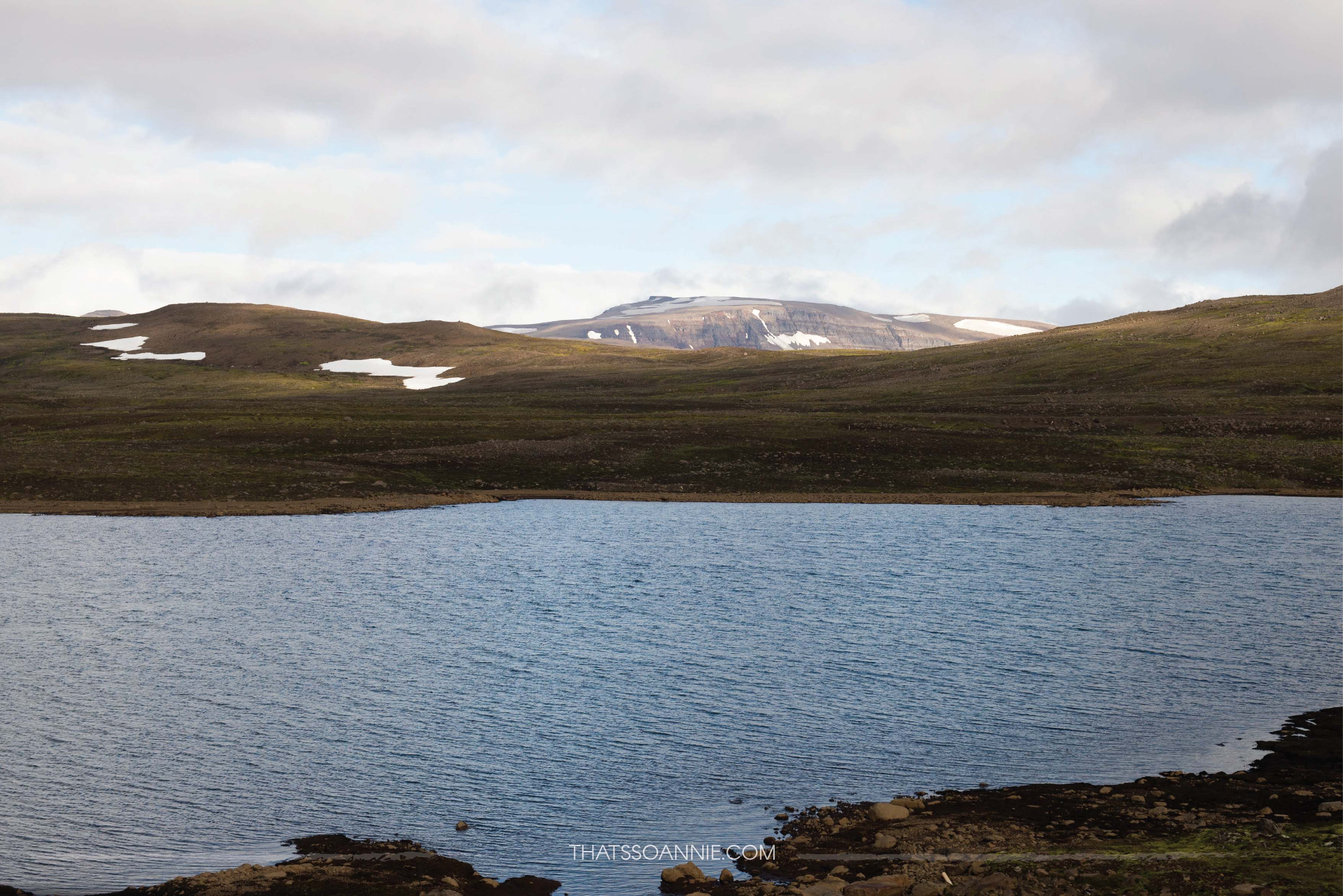 The secret lake in the mountains, Heiðarvatn