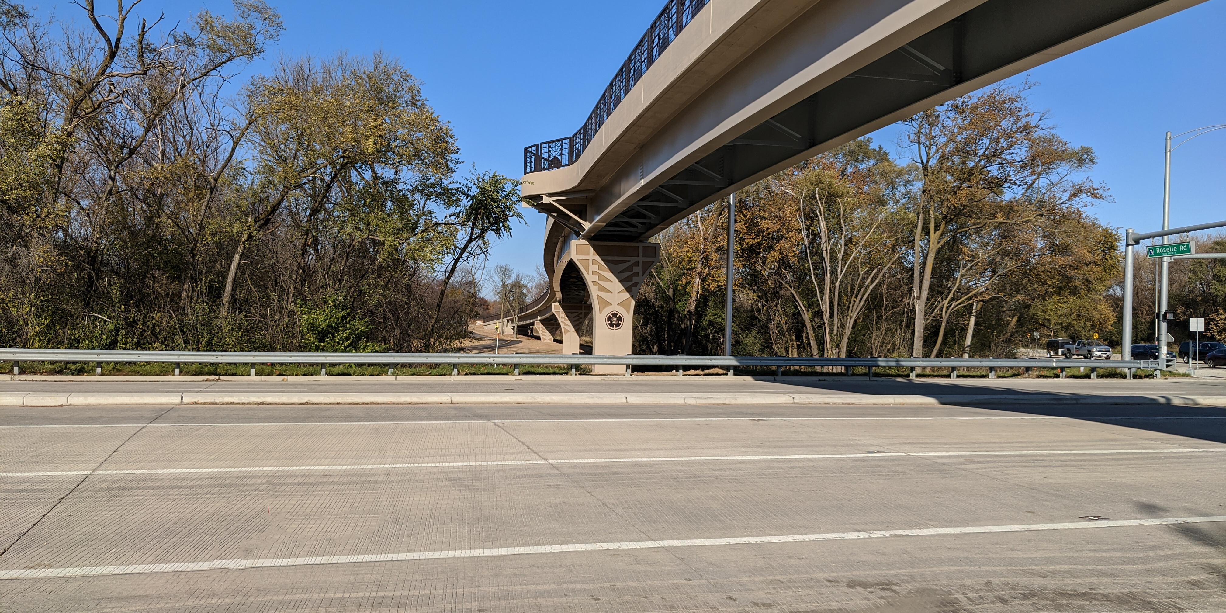 Ped bridge over Roselle Rd   Ciorba Group
