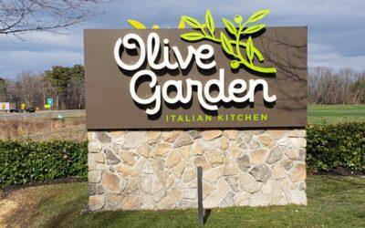 Olive Garden Restaurant Exterior Sign – Easton, MD