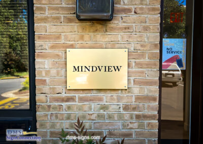 Mindview Behavioral Health and Wellness Engraved Brass Plastic Sign