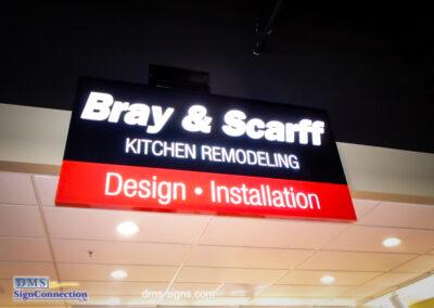 Bray & Scarff Indoor Illuminated Cabinet at the Alexandria, VA location