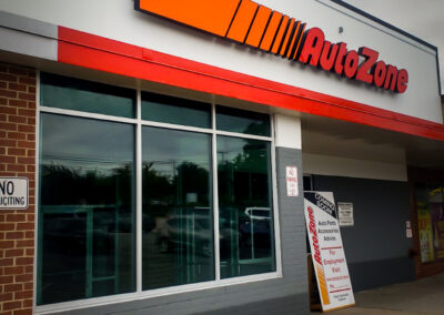 Autozone Illuminated Channel Letters in Towson, MD