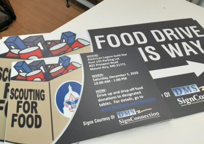 Food Drive Signs for American Legion Gold Star Mt Airy MD - DMS Sign Connection