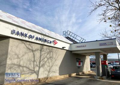 Bank Of America Chantilly VA Rebranding Halo Lit Channel Letters
