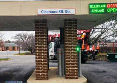 Bank Of America Leesburg East Rebranding Drive thru ATM signs