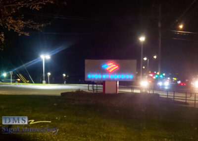 Bank Of America Leesburg East Rebranding Monument Sign Night View