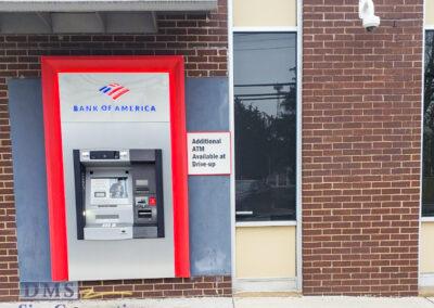 Bank Of America Leesburg East Rebranding ATM sign