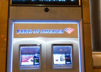 Bank Of America Metro Center DC Rebranding Halo Lit Building Logo