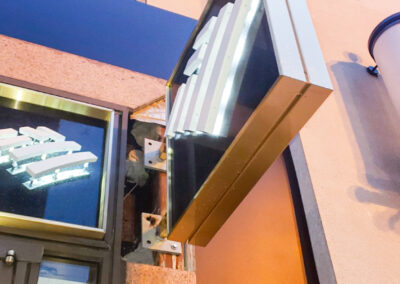 Bank Of America Metro Center DC Rebranding Blade Illuminated Sign