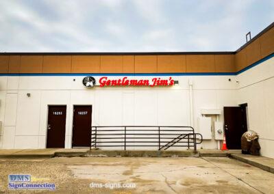 Channel Letter for Gentleman Jim's Restaurant and Bar Gaithersburg MD