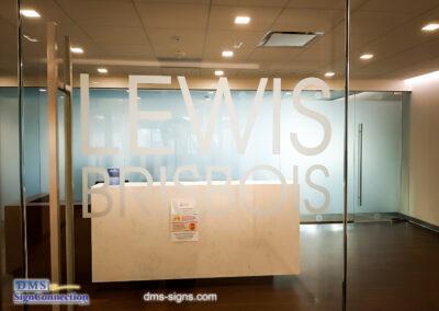 Lewis Brisbois Penn Ave Washington DC Conference Room Window Film