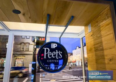 Capital One Georgetown Peets Coffee Illuminated Window Sign