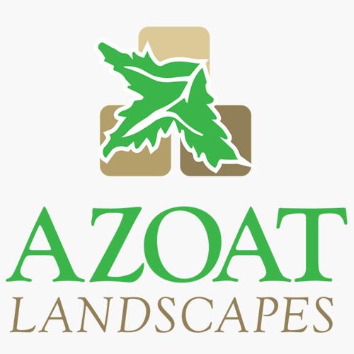 landscaping logo - maple leaf with three blocks