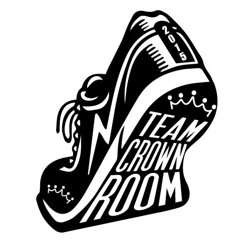running shoe logo, black and white
