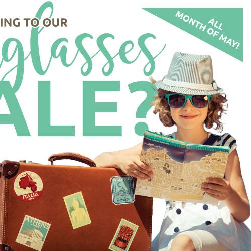 sunglasses sale postcard