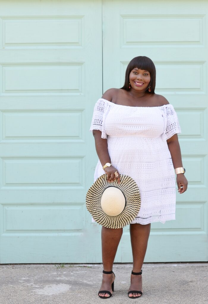 Keeping It Chic In A Lace White Plus Size Dress