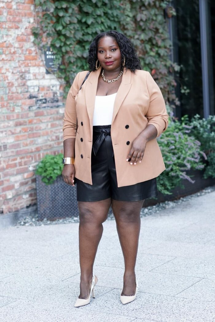 Trend To Try: Plus Size Leather Shorts