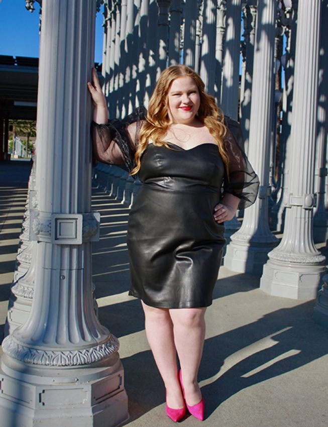 Must Have Plus Size Leather Dresses You Can Wear Now & Later