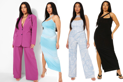 plus size model tabria majors and boohoo collection of summer dresses