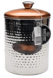 copper top dog treat jar