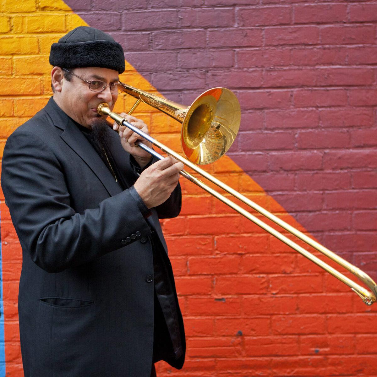 Steve Turre Smoke Sessions Jazz New York Trombone Brooklyn Bridge - May 3, 2016 ©John Abbott www.johnabbottphoto.com, 212-765-2342