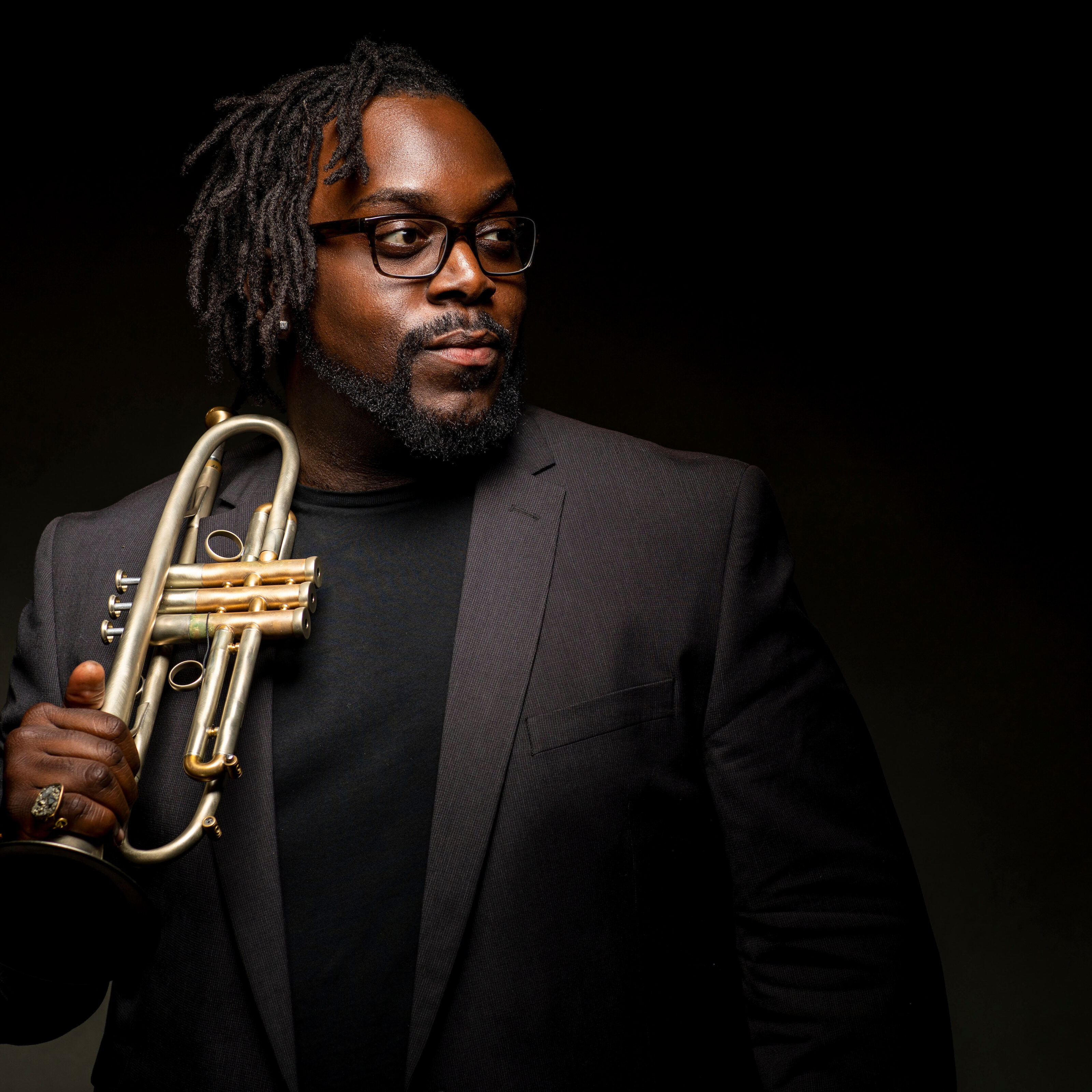 4/30/18 5:21:50 PM -- Chicago, IL, USA  Portraits of Marquis Hill, Trumpet  © Todd Rosenberg Photography 2018
