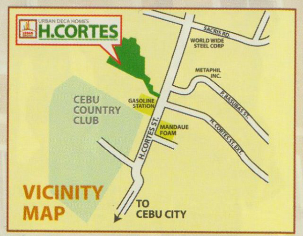 vicinity map of urban deca homes