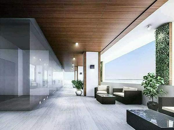 lobby of the condominium
