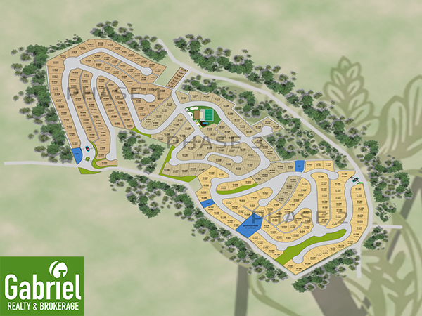 master plan of the heritage subdivision