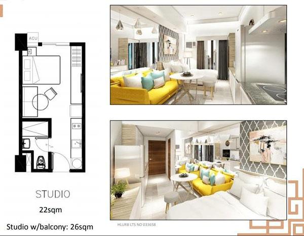 sun park royal hotel and residences studio unit floor plan