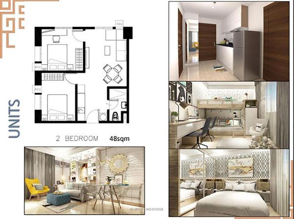 2 bedroom corner unit floor plan