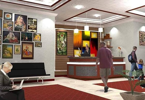 condominium's lobby and reception area